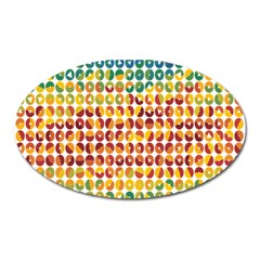 Weather Blue Orange Green Yellow Circle Triangle Oval Magnet by Alisyart