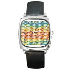 Weather Blue Orange Green Yellow Circle Triangle Square Metal Watch by Alisyart