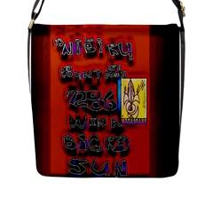 Big Red Sun Walin 72 Flap Messenger Bag (l)  by MRTACPANS