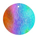 Abstract Color Pattern Textures Colouring Ornament (Round)