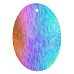 Abstract Color Pattern Textures Colouring Ornament (Oval)