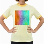 Abstract Color Pattern Textures Colouring Women s Fitted Ringer T-Shirts