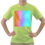 Abstract Color Pattern Textures Colouring Green T-Shirt