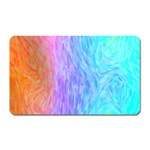 Abstract Color Pattern Textures Colouring Magnet (Rectangular)