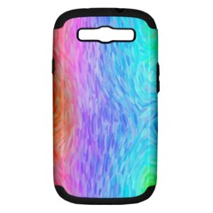 Abstract Color Pattern Textures Colouring Samsung Galaxy S Iii Hardshell Case (pc+silicone) by Simbadda