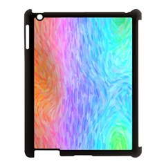 Abstract Color Pattern Textures Colouring Apple Ipad 3/4 Case (black) by Simbadda