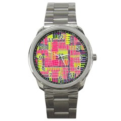 Abstract Pattern Sport Metal Watch by Simbadda