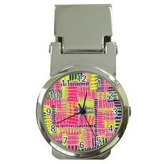 Abstract Pattern Money Clip Watches by Simbadda