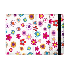 Colorful Floral Flowers Pattern Apple Ipad Mini Flip Case by Simbadda