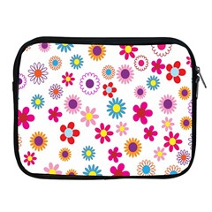 Colorful Floral Flowers Pattern Apple Ipad 2/3/4 Zipper Cases by Simbadda
