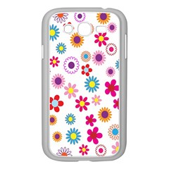 Colorful Floral Flowers Pattern Samsung Galaxy Grand Duos I9082 Case (white) by Simbadda