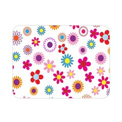 Colorful Floral Flowers Pattern Double Sided Flano Blanket (mini)  by Simbadda