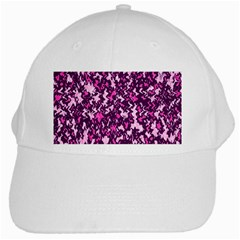 Chic Camouflage Colorful Background White Cap by Simbadda