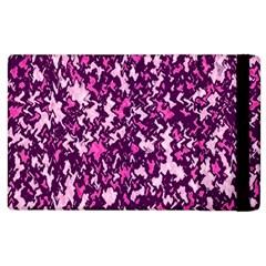 Chic Camouflage Colorful Background Apple Ipad 2 Flip Case by Simbadda