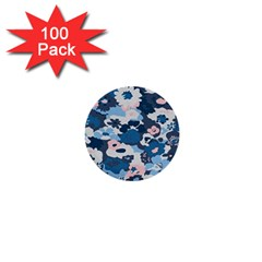 Fabric Wildflower Bluebird 1  Mini Buttons (100 Pack)  by Simbadda