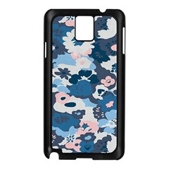 Fabric Wildflower Bluebird Samsung Galaxy Note 3 N9005 Case (Black)