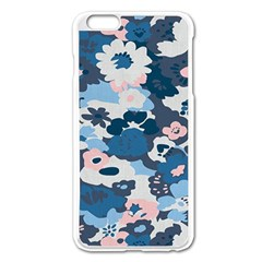 Fabric Wildflower Bluebird Apple Iphone 6 Plus/6s Plus Enamel White Case by Simbadda