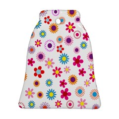Colorful Floral Flowers Pattern Ornament (bell)