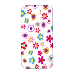 Colorful Floral Flowers Pattern Samsung Galaxy S4 I9500/i9505  Hardshell Back Case by Simbadda