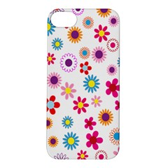 Colorful Floral Flowers Pattern Apple Iphone 5s/ Se Hardshell Case by Simbadda
