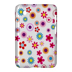 Colorful Floral Flowers Pattern Samsung Galaxy Tab 2 (7 ) P3100 Hardshell Case  by Simbadda
