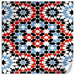Morrocan Fez Pattern Arabic Geometrical Canvas 16  x 16   by Simbadda