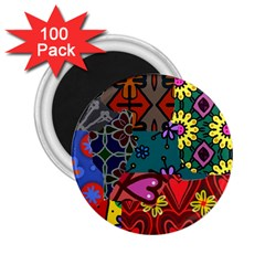Patchwork Collage 2 25  Magnets (100 Pack)