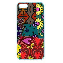 Patchwork Collage Apple Seamless Iphone 5 Case (color) by Simbadda