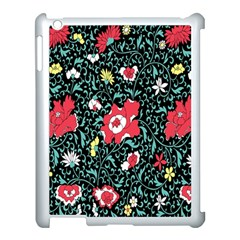 Vintage Floral Wallpaper Background Apple Ipad 3/4 Case (white) by Simbadda