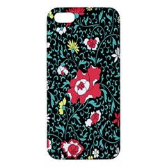 Vintage Floral Wallpaper Background Apple Iphone 5 Premium Hardshell Case by Simbadda