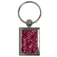 Red Circular Pattern Background Key Chains (rectangle)  by Simbadda