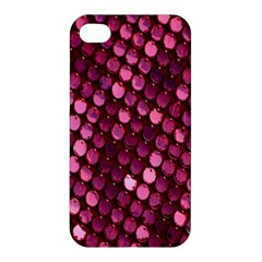 Red Circular Pattern Background Apple Iphone 4/4s Hardshell Case by Simbadda