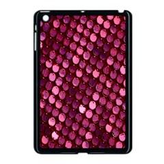 Red Circular Pattern Background Apple Ipad Mini Case (black) by Simbadda