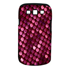 Red Circular Pattern Background Samsung Galaxy S Iii Classic Hardshell Case (pc+silicone) by Simbadda