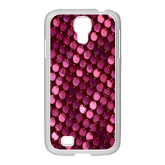 Red Circular Pattern Background Samsung Galaxy S4 I9500/ I9505 Case (white) by Simbadda