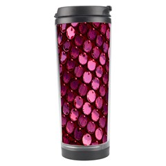 Red Circular Pattern Background Travel Tumbler
