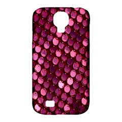Red Circular Pattern Background Samsung Galaxy S4 Classic Hardshell Case (pc+silicone) by Simbadda