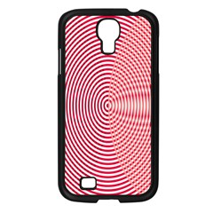 Circle Line Red Pink White Wave Samsung Galaxy S4 I9500/ I9505 Case (black) by Alisyart