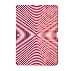Circle Line Red Pink White Wave Samsung Galaxy Tab 2 (10 1 ) P5100 Hardshell Case  by Alisyart