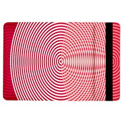 Circle Line Red Pink White Wave Ipad Air 2 Flip by Alisyart