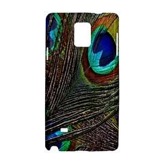 Peacock Feathers Samsung Galaxy Note 4 Hardshell Case by Simbadda