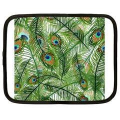 Peacock Feathers Pattern Netbook Case (xl)  by Simbadda