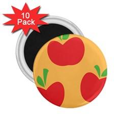 Apple Fruit Red Orange 2 25  Magnets (10 Pack)  by Alisyart