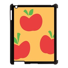 Apple Fruit Red Orange Apple Ipad 3/4 Case (black) by Alisyart
