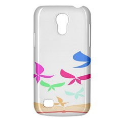 Colorful Butterfly Blue Red Pink Brown Fly Leaf Animals Galaxy S4 Mini by Alisyart