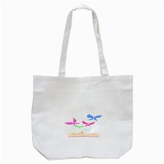 Colorful Butterfly Blue Red Pink Brown Fly Leaf Animals Tote Bag (white) by Alisyart