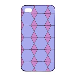 Demiregular Purple Line Triangle Apple Iphone 4/4s Seamless Case (black) by Alisyart