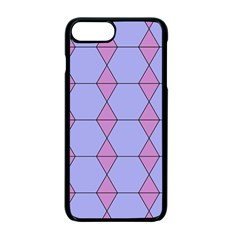 Demiregular Purple Line Triangle Apple Iphone 7 Plus Seamless Case (black) by Alisyart