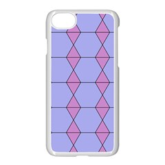 Demiregular Purple Line Triangle Apple Iphone 7 Seamless Case (white) by Alisyart