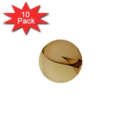 Edge Gold Wave 1  Mini Buttons (10 Pack)  by Alisyart
